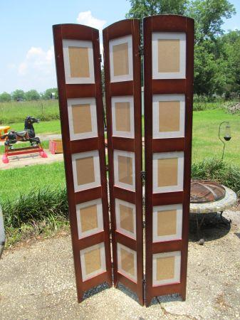 Folding Photo Frame Room Divider Cherry wood Fairhope for Sale