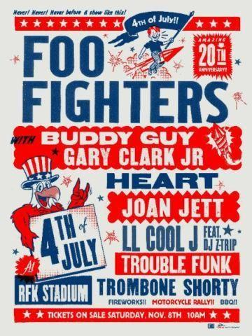 Foo Fighters 20th Anniversary Blowout - Wash, DC. July