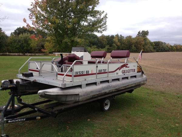For sale 1996 18 ft fishing pontoon w electric anchor for Party boat fishing near me