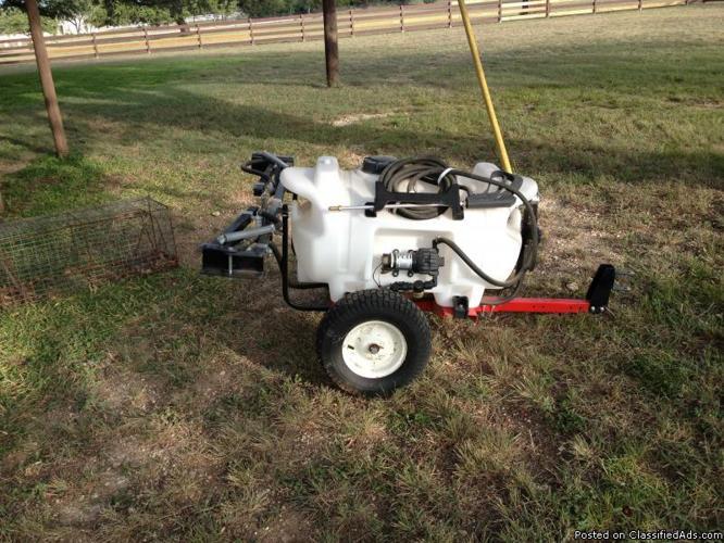 For Sale: 40 Gallon Lawn & Garden Trailer Sprayer w/5-Nozzle Boom