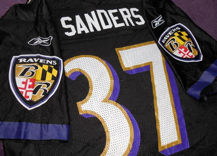 best service 11a63 952f9 deion sanders baltimore ravens jersey