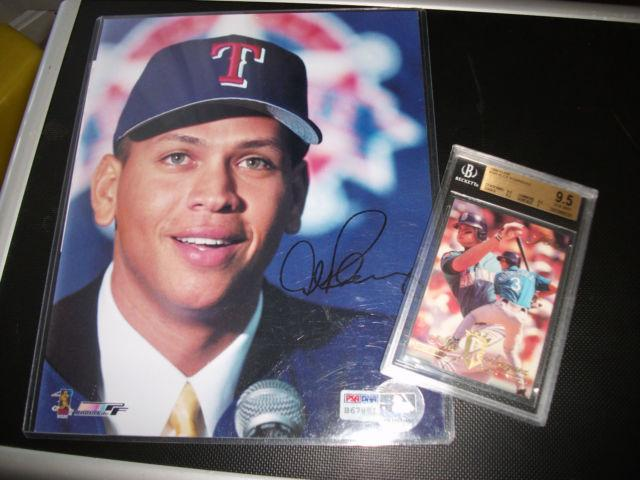 FOR SALE! Alex Rodriguez Signed Photo PSA/DNA & Graded