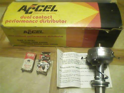 Ford 302 Distributor, Accel points Eliminator, Accel Coil with Bracket