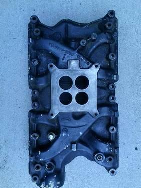 Ford 351 windsor D1JE cast iron 4 barrel intake manifold NON-EGR