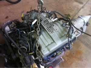 Ford 5.0 engine  transmission - $875 Morganton
