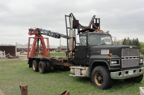 1986 Ford Logging Truck W Prentice 120 Loader Images Frompo