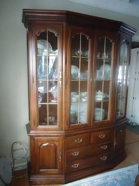 formal dining room 10 pc set thomasville cherry queen anne for sale