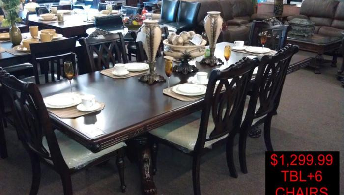 FORMAL DINING TABLE+6 CHAIRS   $1300 (SALINAS,CA