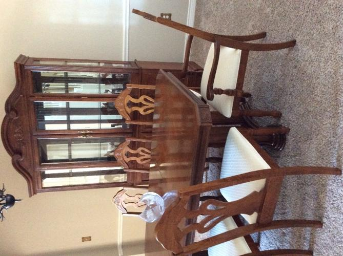 Formal dining table, 8 chairs, China cabinet for Sale in ...