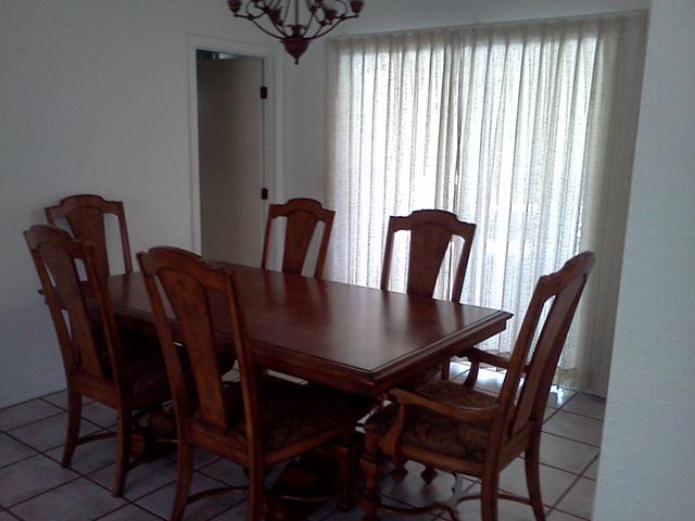 Formal dining table and 6 chairs for sale in port for Formal dining room chairs for sale