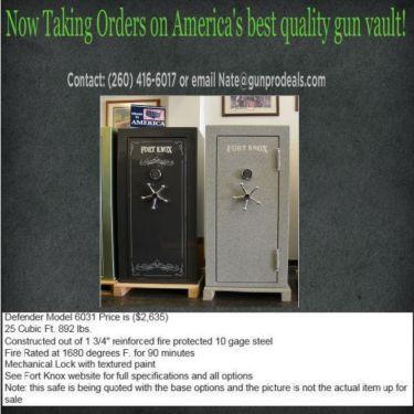 Fort Knox Defender Gun Vaults For Sale (Starting at $2,635)