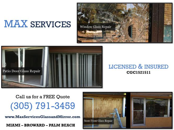 Fort Lauderdale, FL:. Broken Window Repair. Mirror &
