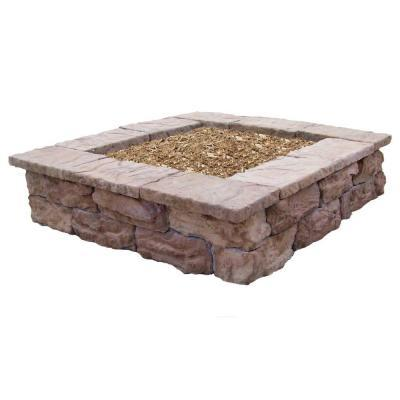 Fossill Stone Square Outdoor Decorative Planter