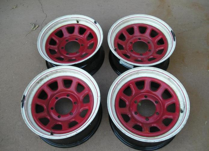 FOUR 8 INCH BY 16 INCH RIMS - $60 LAKEWOOD