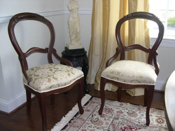 Four Antique Victorian Balloon Back Chairs **Frazer