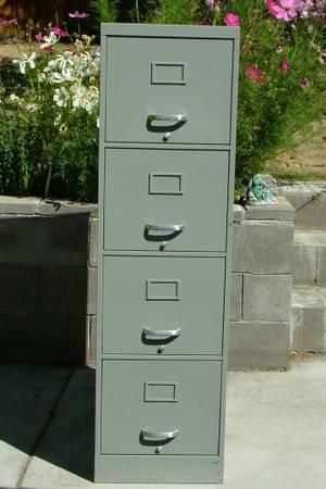 Four Drawer File Cabinet - $45