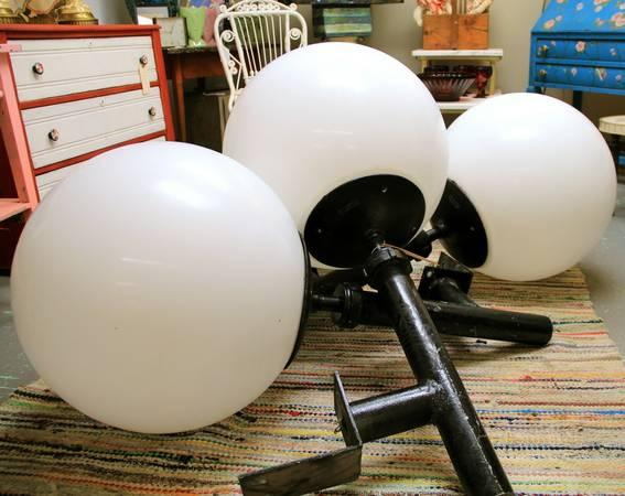 Four Enormous Industrial Drop-Ball Lights - $449