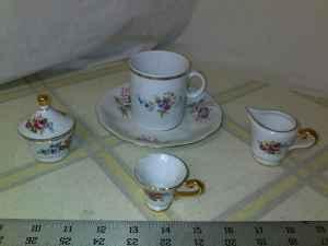Four piece Jarolina China Decorative Tea Set - $20