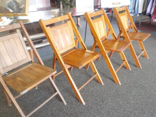 Four Wooden Folding Chairs for Sale in Chester Virginia Classified