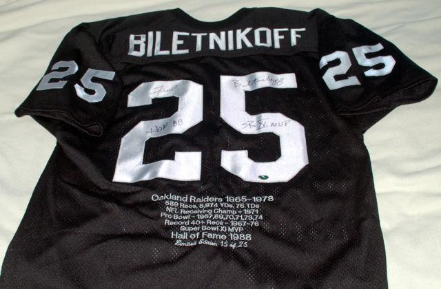 sports shoes f3f51 e97a5 FRED BILETNIKOFF AUTOGRAPHED JERSEY for Sale in Franklin ...