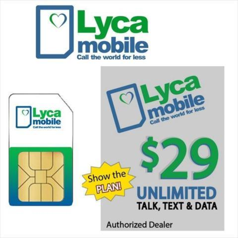 FREE Lycamobile SIM Card Unlimited Calling $29 Mexico India China