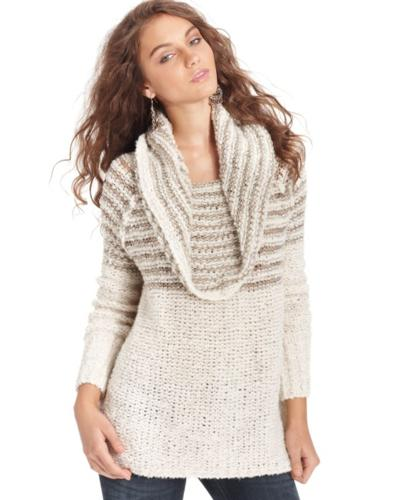 Free People Sweater, Long-Sleeve Cowl-Neck Striped for Sale in ...