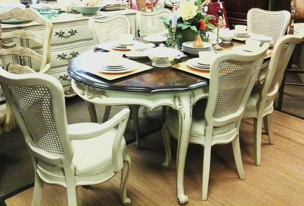 French Provincial 3pc Dining Room Set For Sale In Ann Arbor Michigan Classified