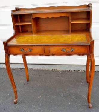 French Provincial Half Secretary Desk