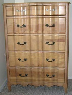 French Provincial Wood Dresser Set Bureau Amp Tall Chest