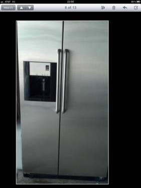 frigidair gallery professional series sxs stainless refrigerator for