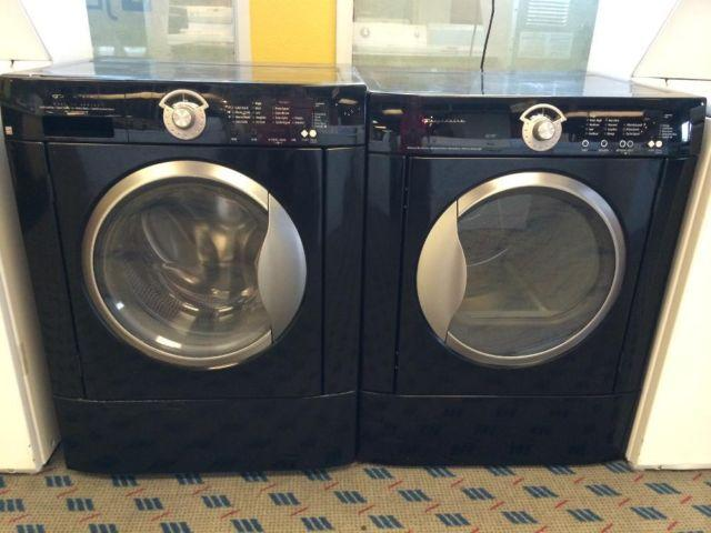 frigidaire black front load washer u0026 dryer set pair