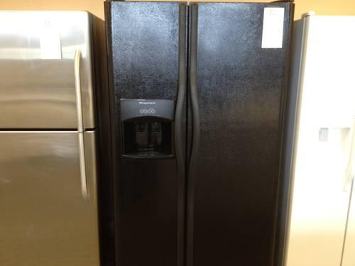 Frigidaire Black Side By Side Refrigerator Freezer Water