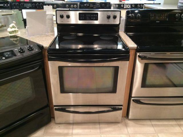 Frigidaire Black Amp Stainless Smooth Top Range Stove Oven