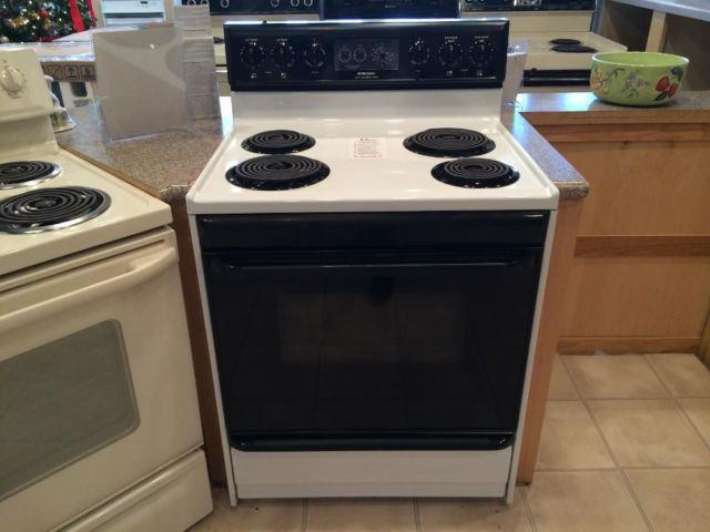 Black Electric Stove ~ Frigidaire black white electric range stove oven used