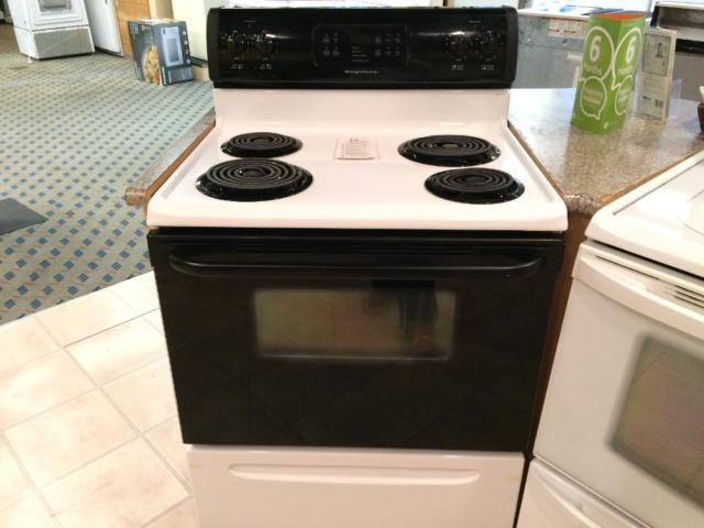 White Electric Stove ~ Frigidaire black white electric range stove oven used