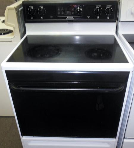 Frigidaire Glass Top Stove In Black And White For Sale In