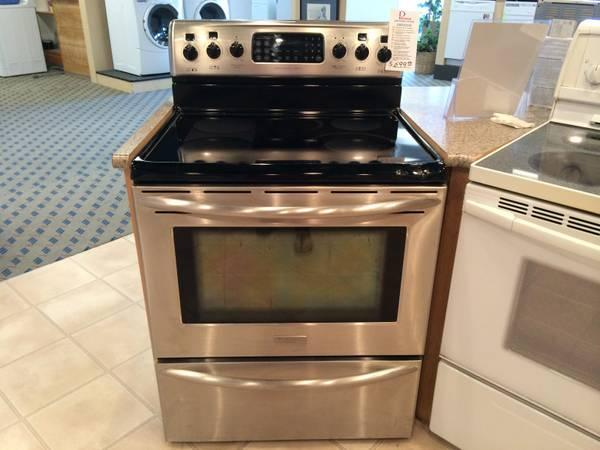 Frigidaire Pro Series Stainless Glass Top Range Stove Oven USED