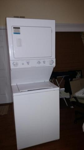Frigidaire Stack able Washer and Dryer. Gas Dryer