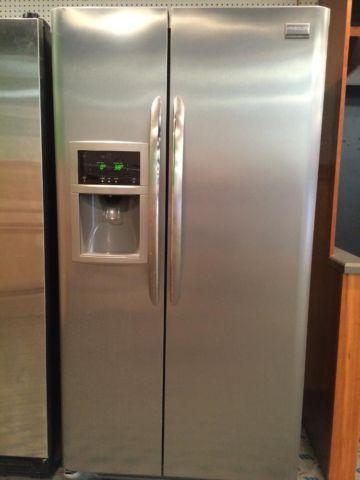 Frigidaire Stainless Side By Side Refrigerator Used For