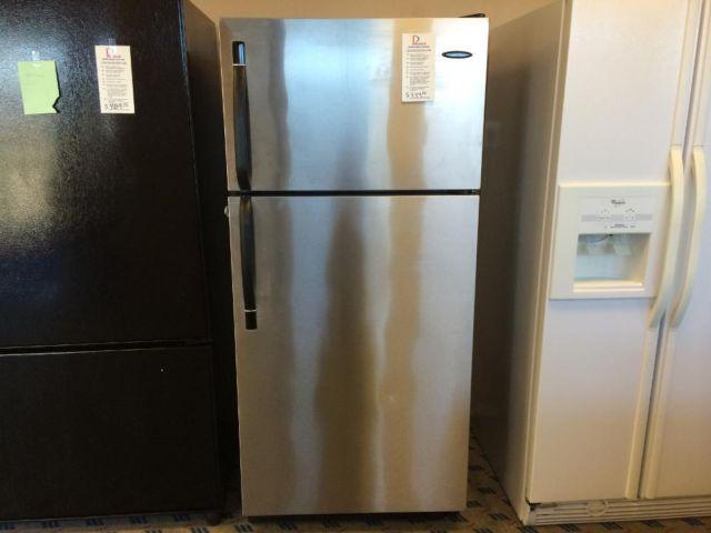 frigidaire stainless steel top mount refrigerator used for sale in tacoma washington. Black Bedroom Furniture Sets. Home Design Ideas