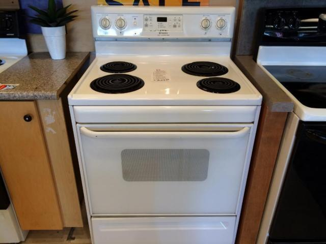 Frigidaire white range stove oven used for sale in for Lakewood wood stove for sale