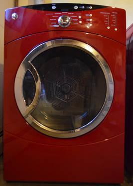 Front Load Ge He Washer Amp Dryer Cherry Red For Sale In