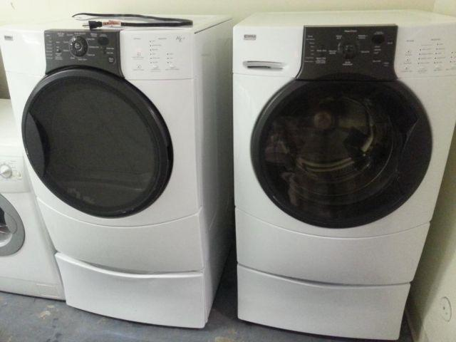 FRONT LOAD WASHER AND GAS DRYER KENMORE INCLUDED PEDESTAL