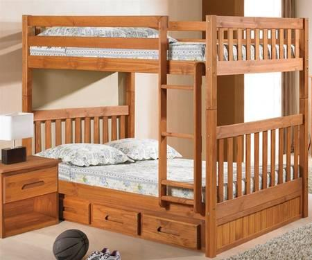 Full Over Full Bunk Bed Brand New Solid Wood For Sale