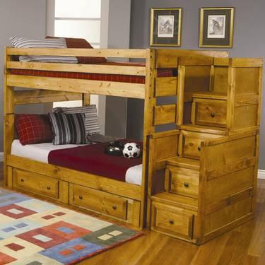 FULL OVER FULL BUNK BED WITH UNDER BED STORAGE