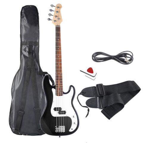 Full Size 4 String Electric Bass Guitar with Strap Bag