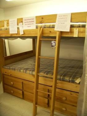 Full Size Bunk Bed With Bunkie Boards For Sale In La Porte Indiana
