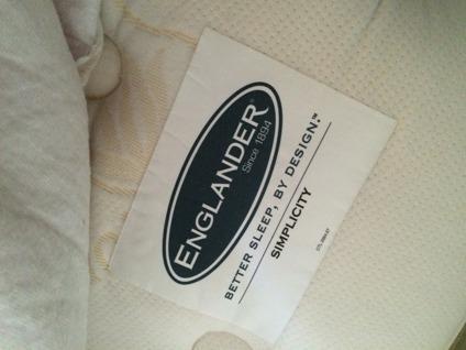 Full Size Englander Aloe Vera Plush Top Mattress Box Spring Frame For Sale In Chicago Illinois