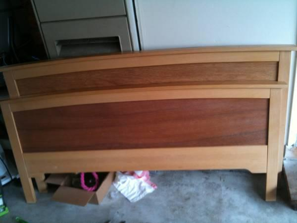 Full size ikea bed with box spring mattress for sale for Full size box spring ikea