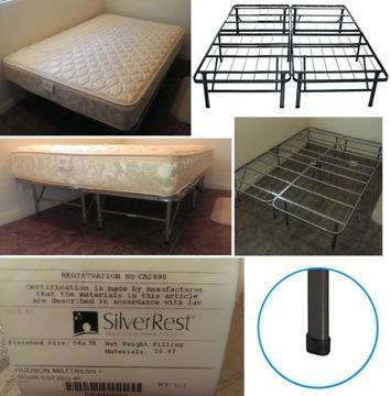 Full Size Smart Base Platform Metal Bed Frame Mattress
